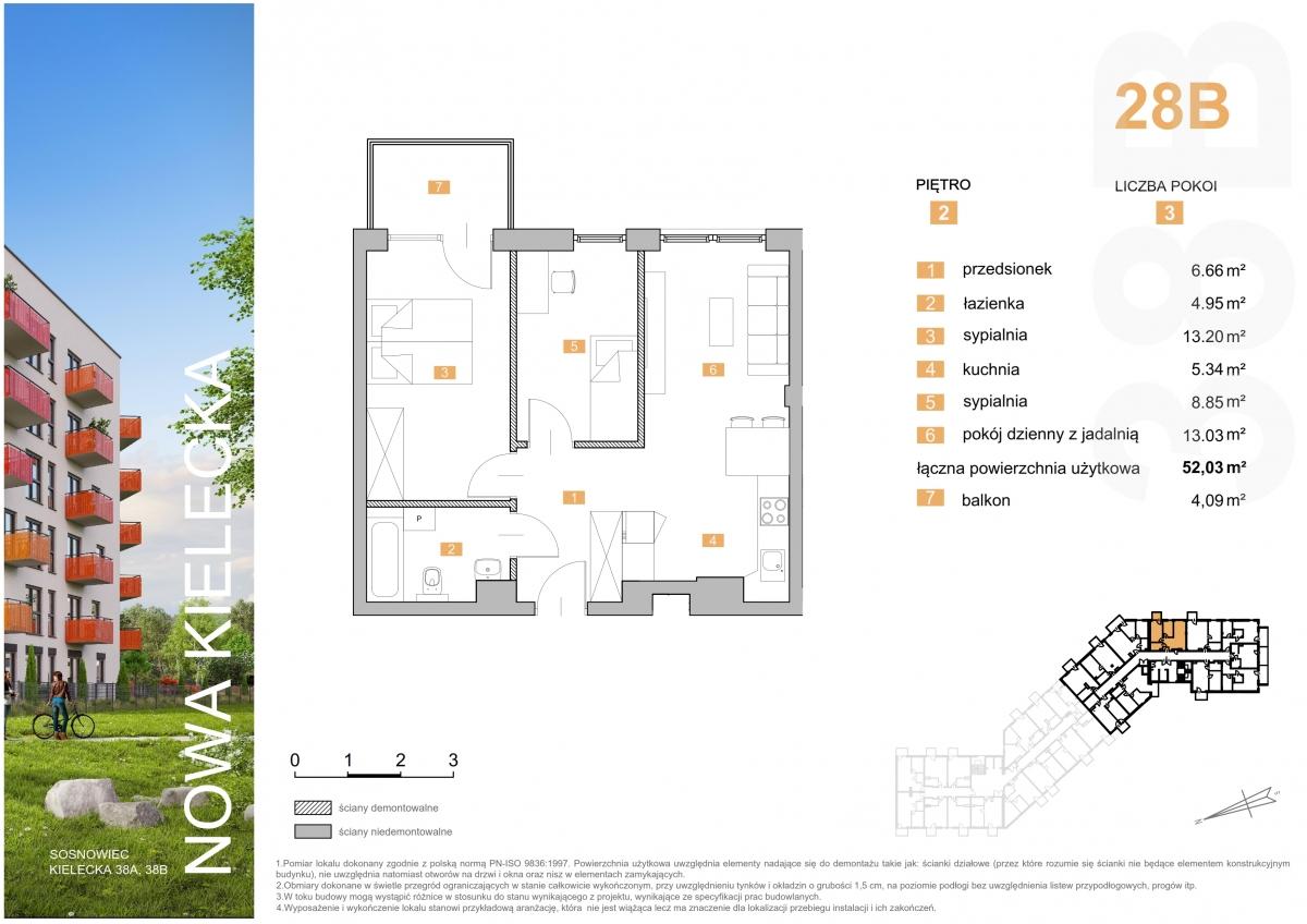 Mieszkanie 28B - 52,03 m2