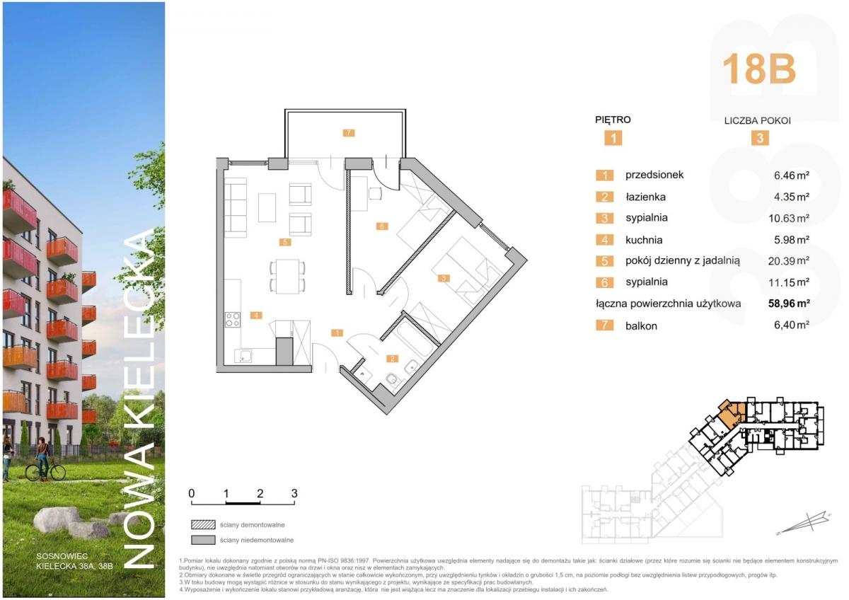 Mieszkanie 18B - 58,96 m2