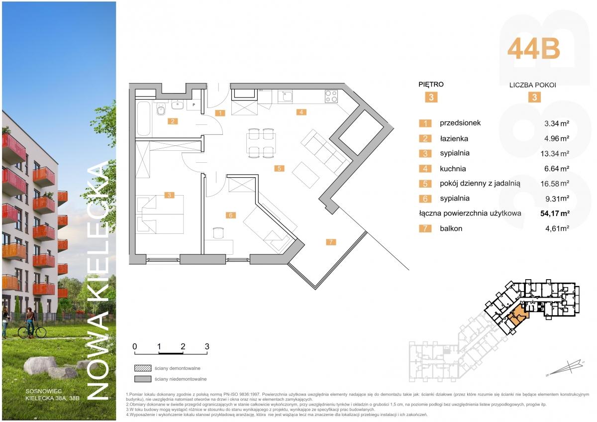Mieszkanie 44B - 54,17 m2
