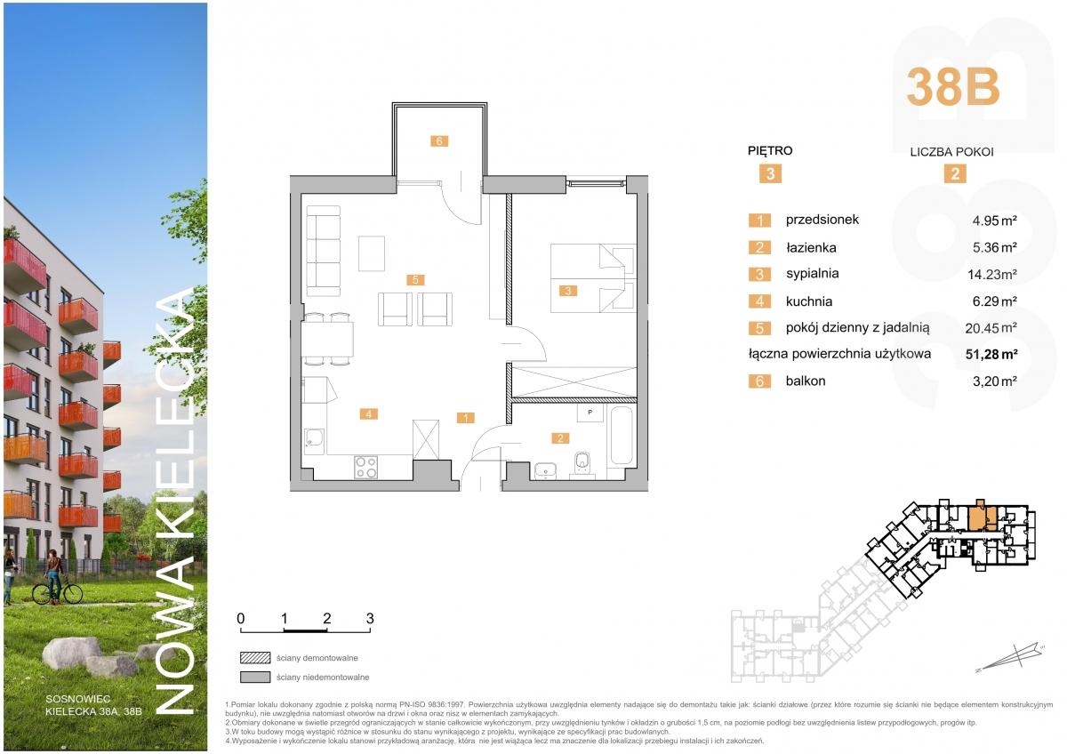 Mieszkanie 38B - 51,28 m2