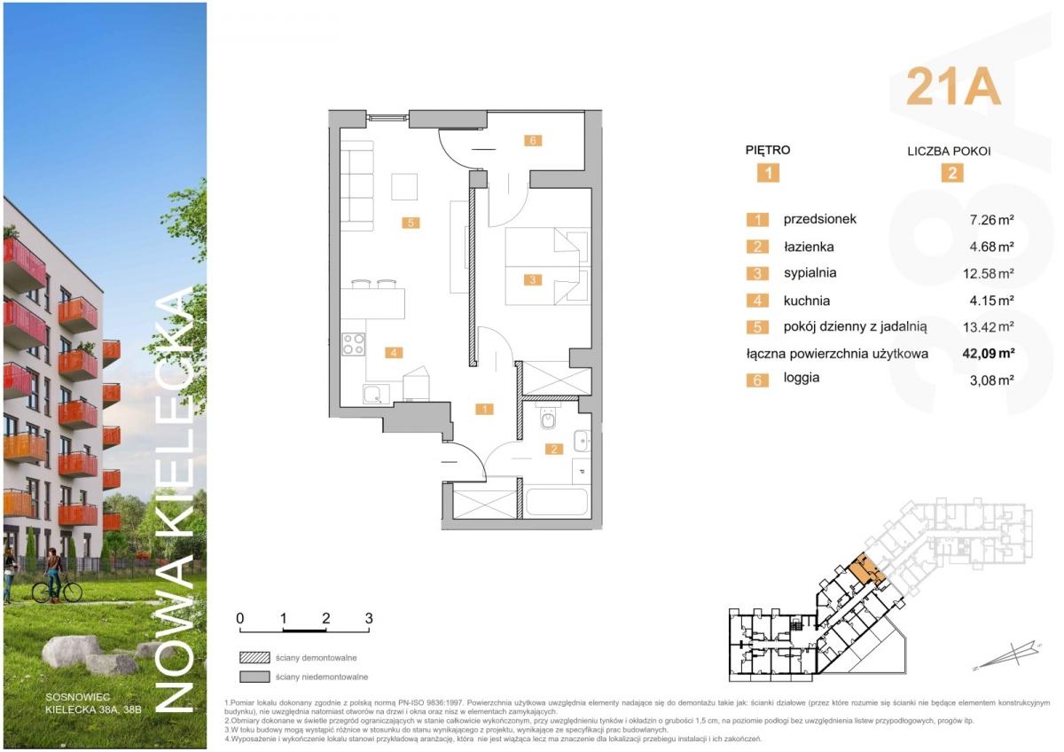 Mieszkanie 21A - 42,09 m2