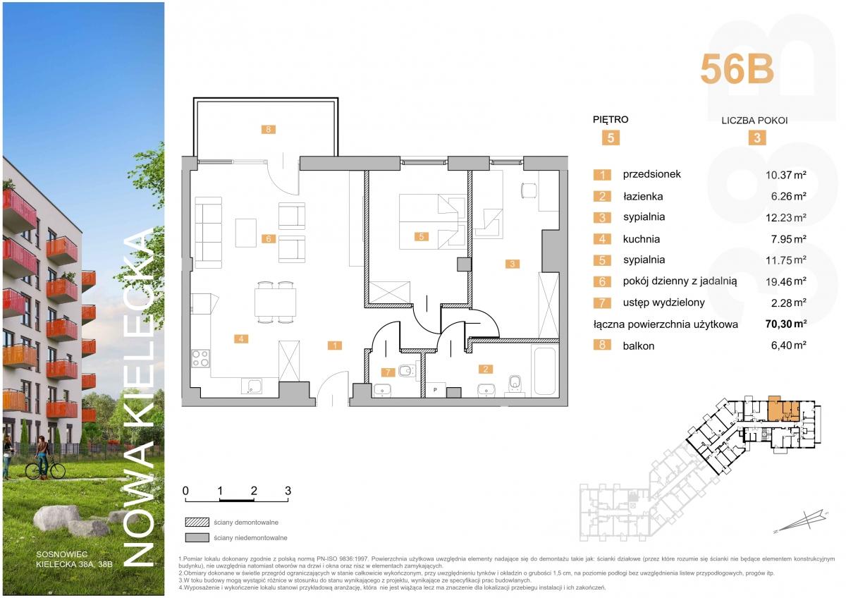 Mieszkanie 56B - 70,30 m2