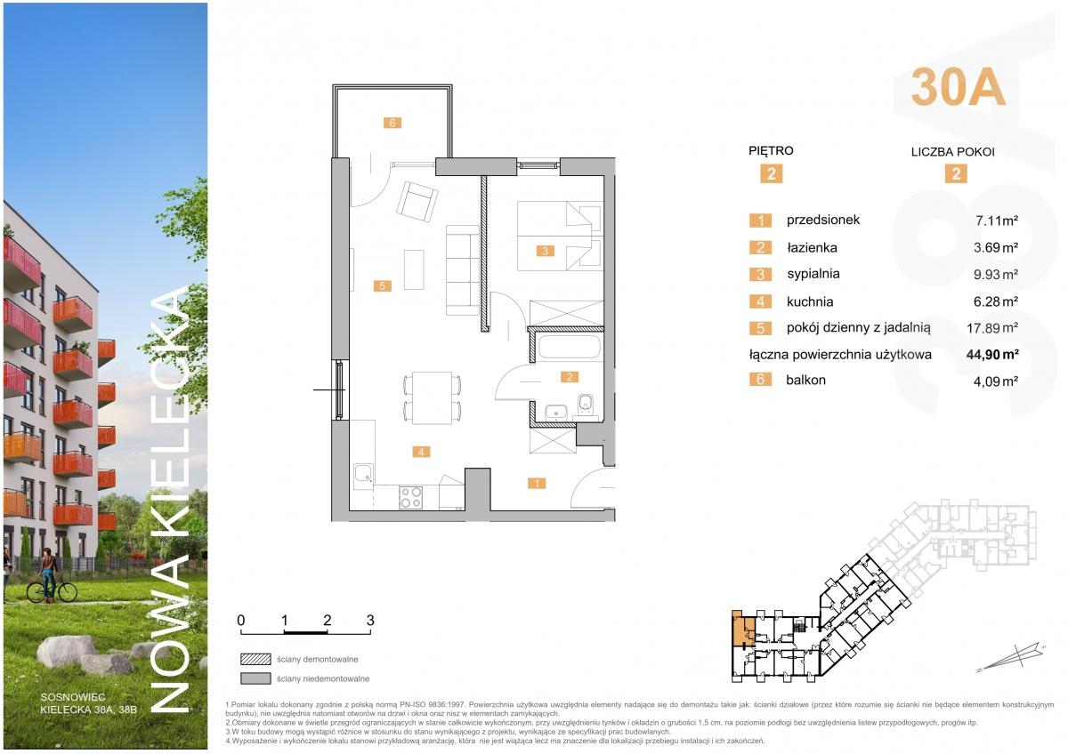 Mieszkanie 30A - 44,90 m2