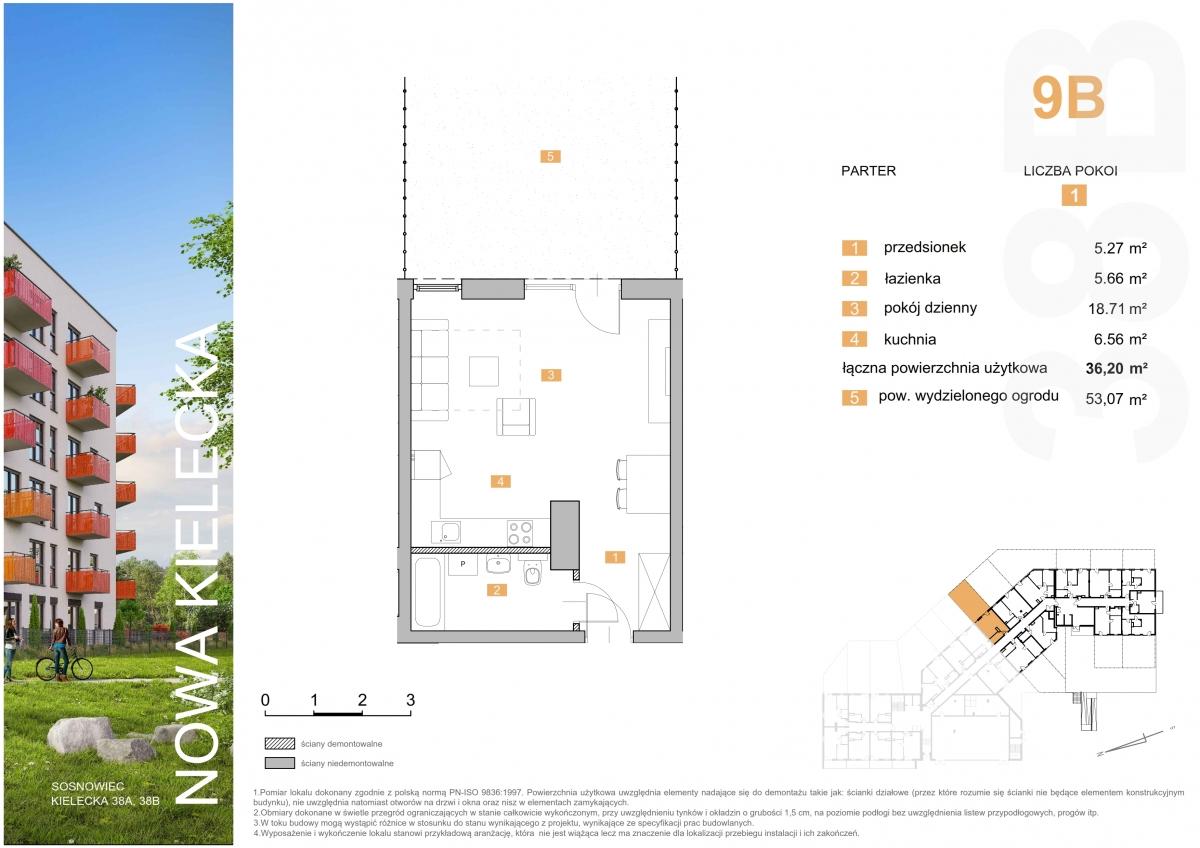 Mieszkanie 9B - 36,20 m2