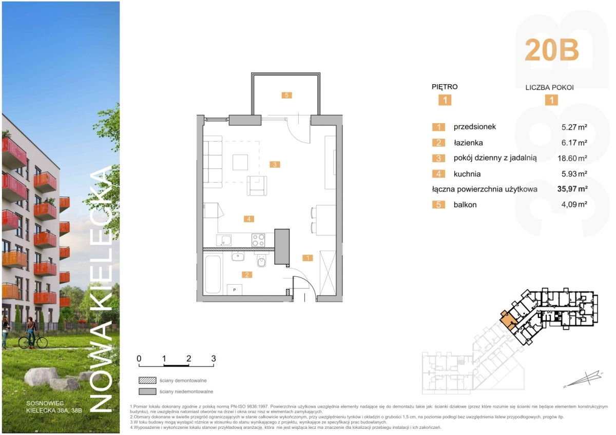 Mieszkanie 20B - 35,97 m2