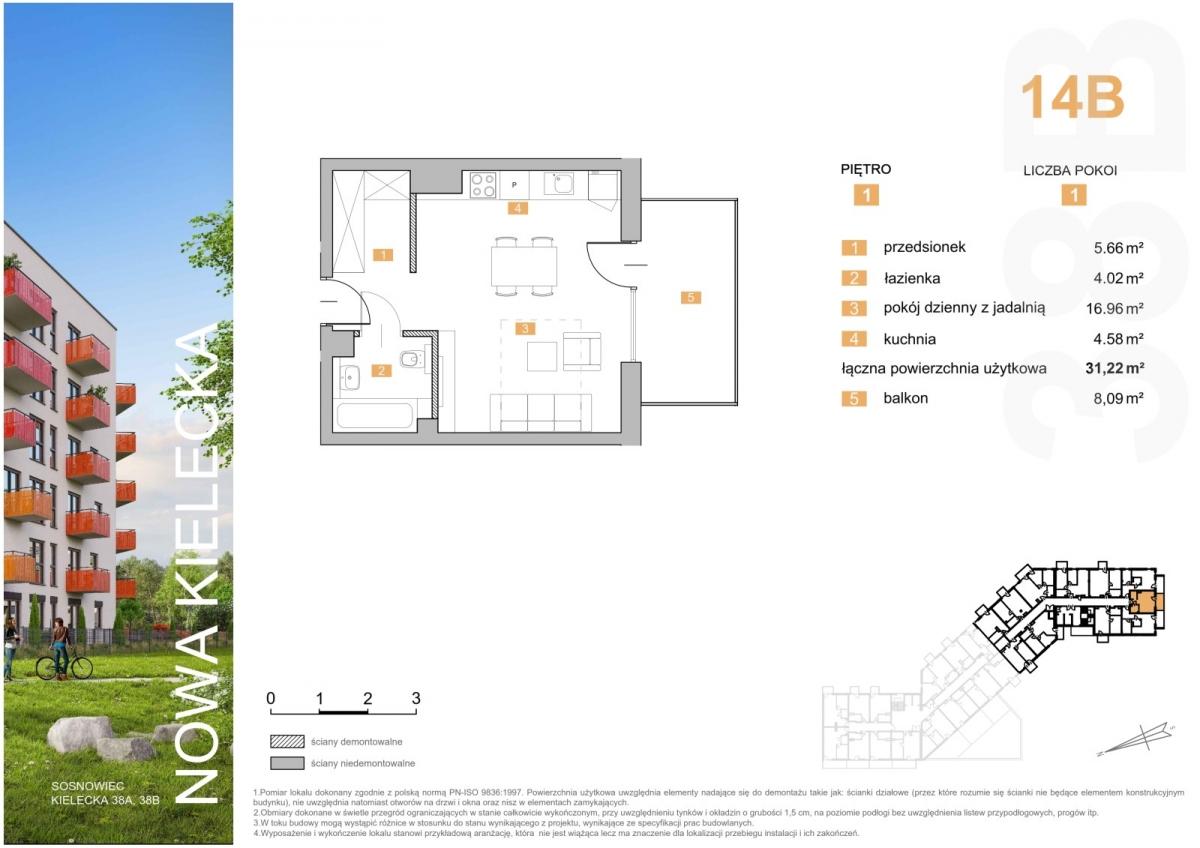 Mieszkanie 14B - 31,22 m2