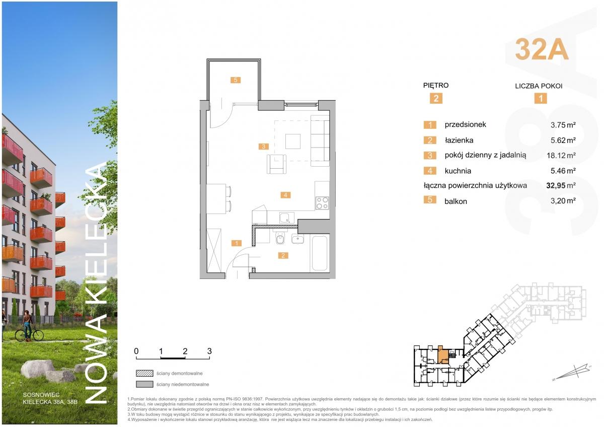 Mieszkanie 32A - 32,95 m2