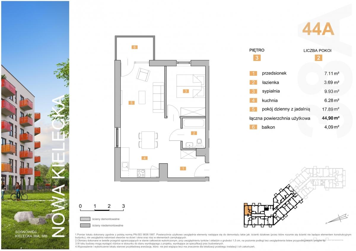 Mieszkanie 44A - 44,90 m2