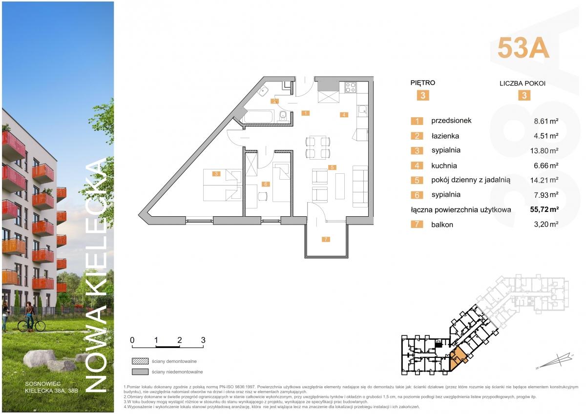 Mieszkanie 53A - 55,72 m2