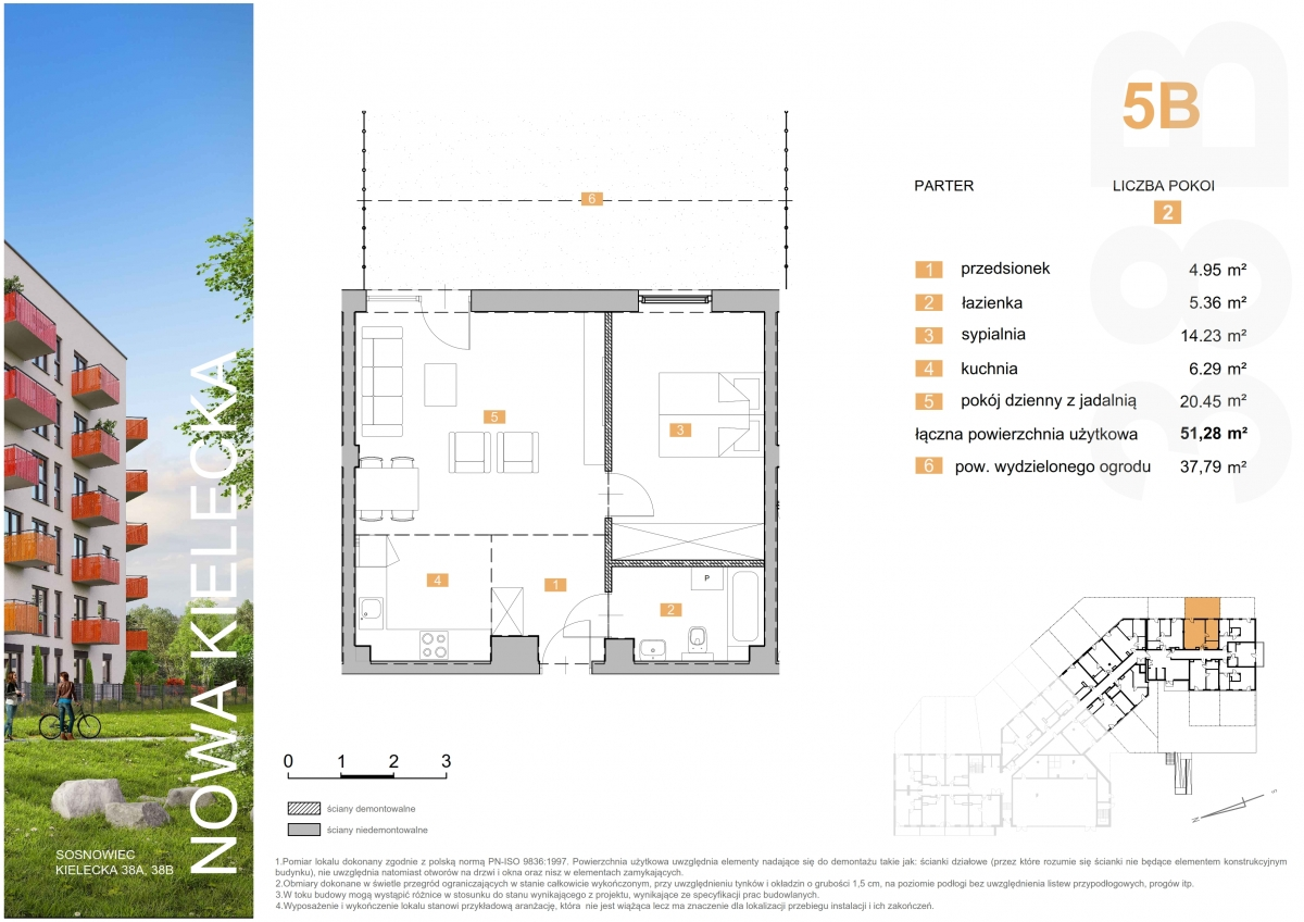 Mieszkanie 5B - 51,28 m2