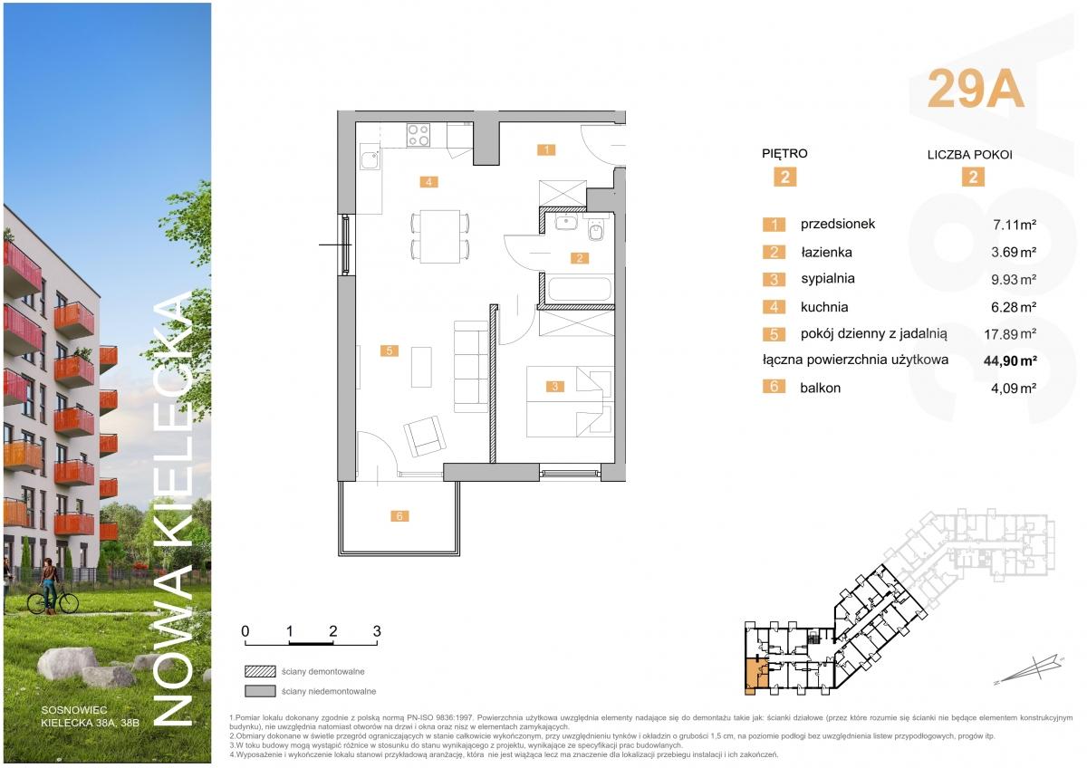 Mieszkanie 29A - 44,90 m2