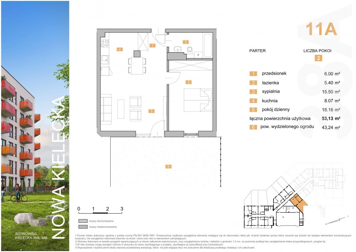 Mieszkanie 11A - 53,13 m2