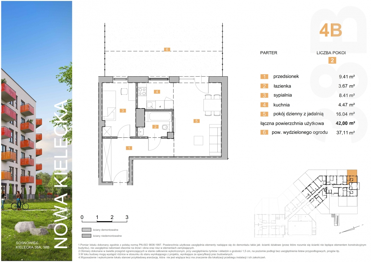 Mieszkanie 4B - 42,00 m2
