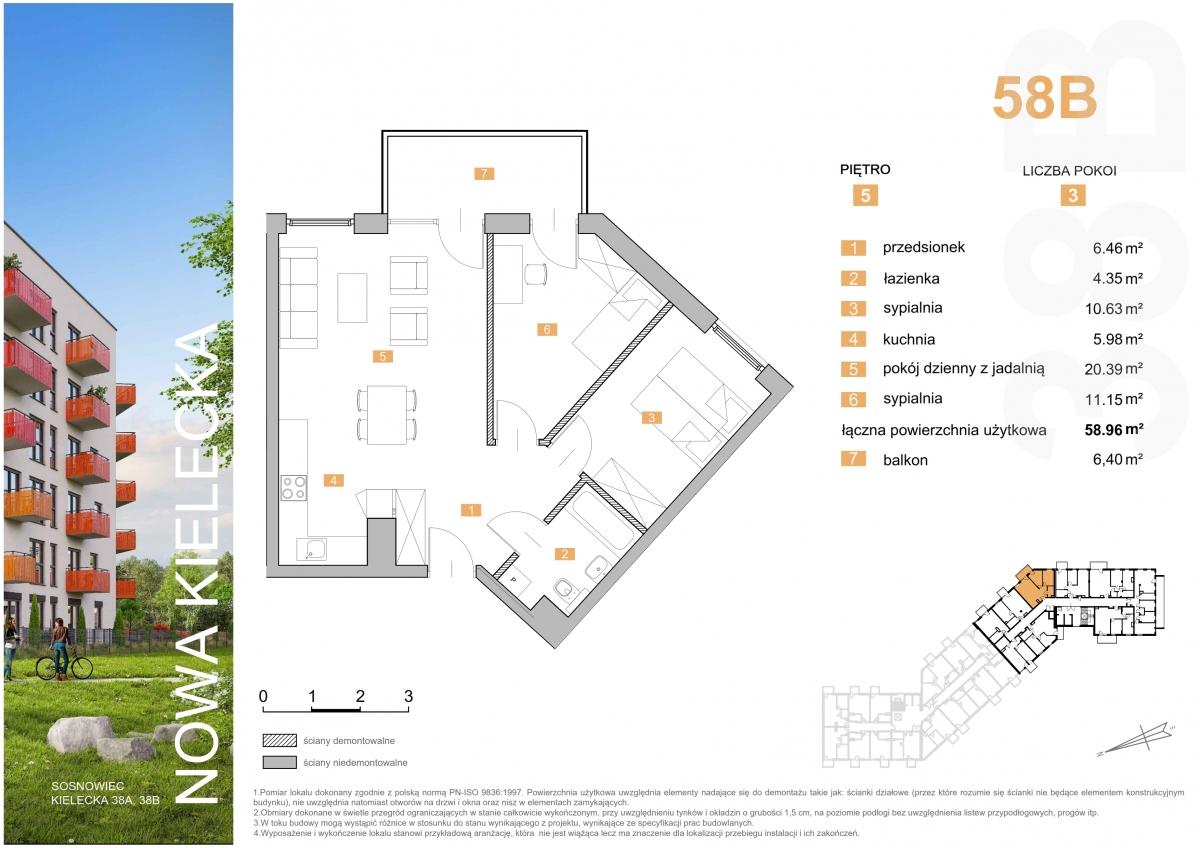 Mieszkanie 58B - 58,96 m2