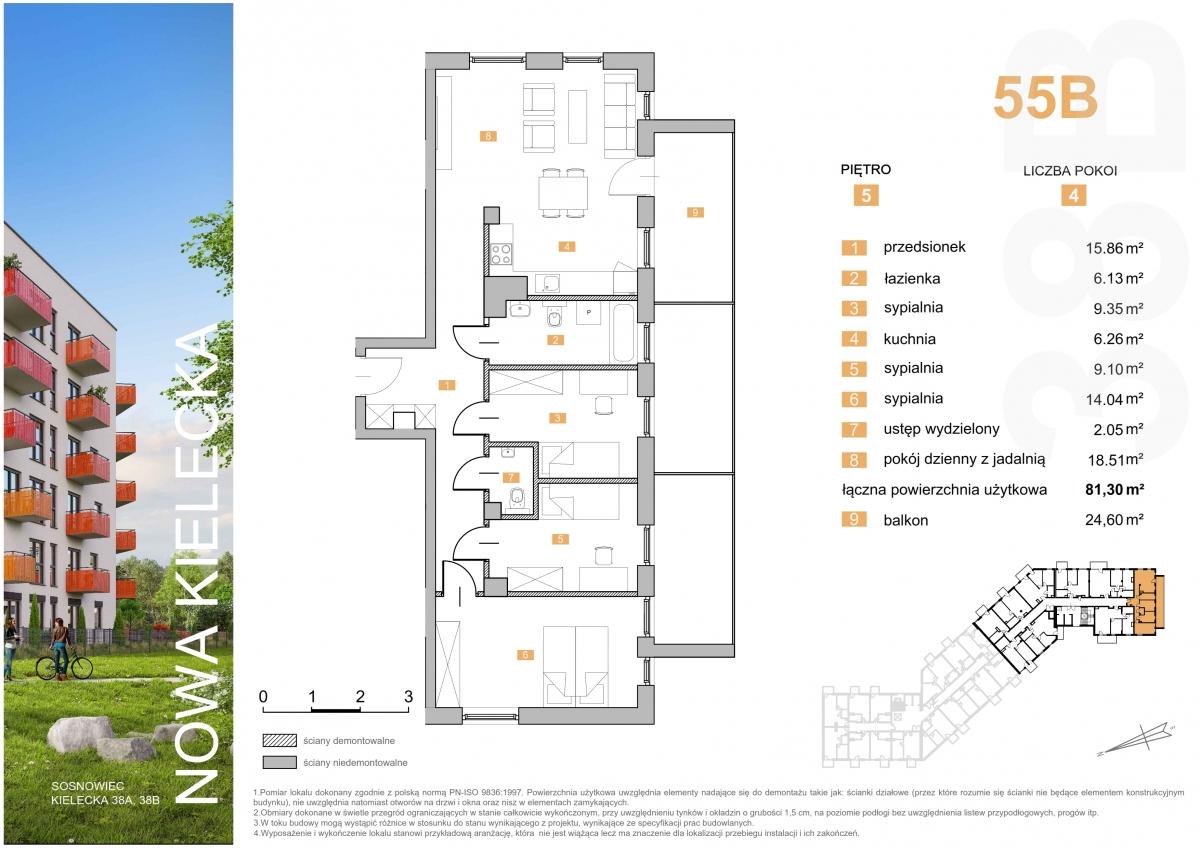 Mieszkanie 55B - 81,30 m2