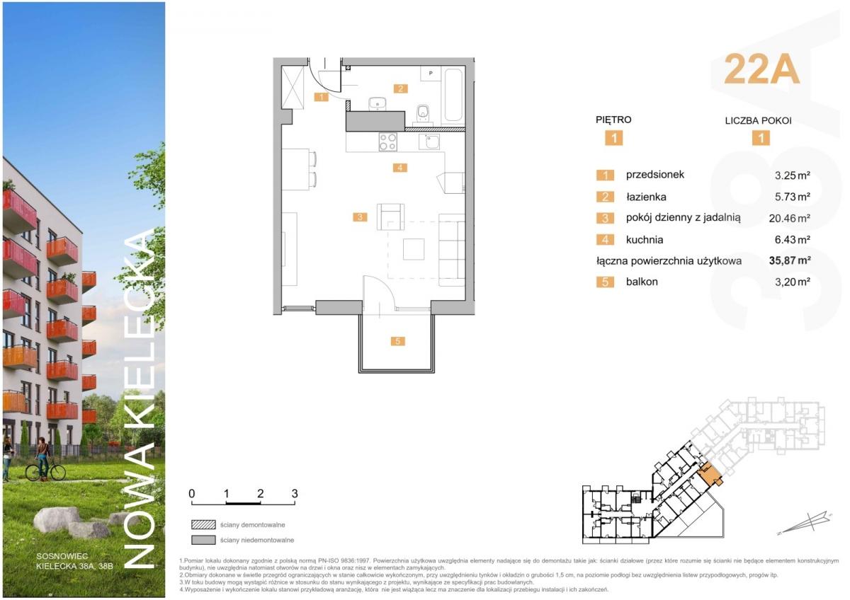 Mieszkanie 22A - 35,87 m2
