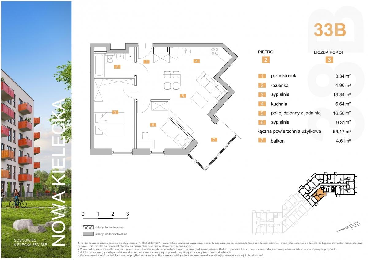 Mieszkanie 33B - 54,17 m2