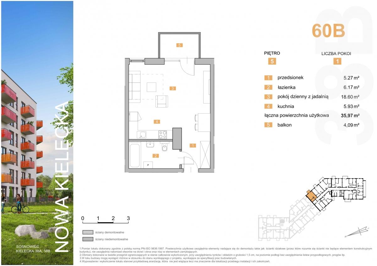 Mieszkanie 60B - 35,97 m2