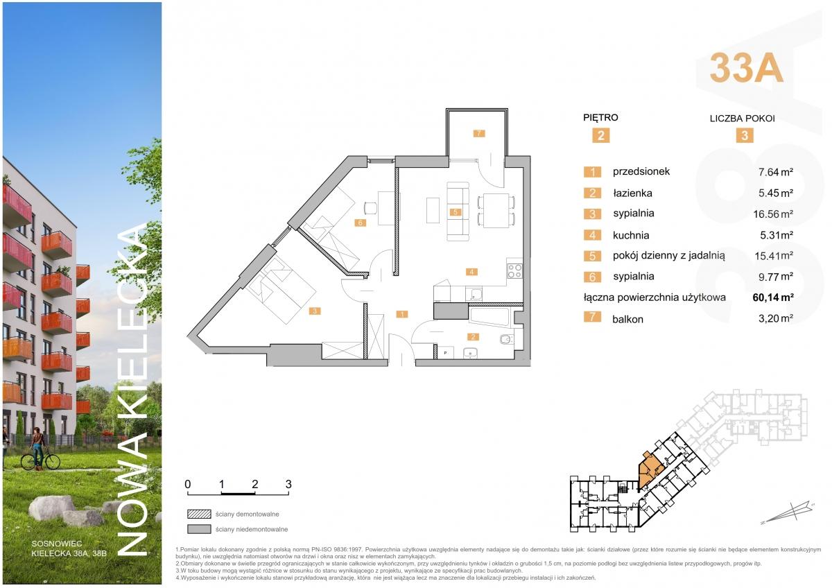 Mieszkanie 33A - 60,14 m2