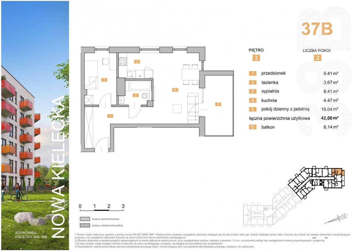 Mieszkanie 37B - 42,00 m2