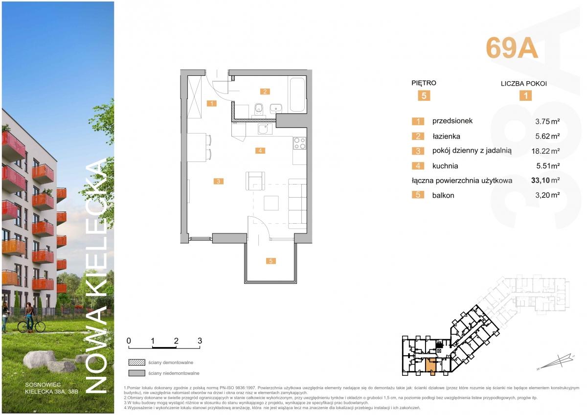 Mieszkanie 69A - 33,10 m2