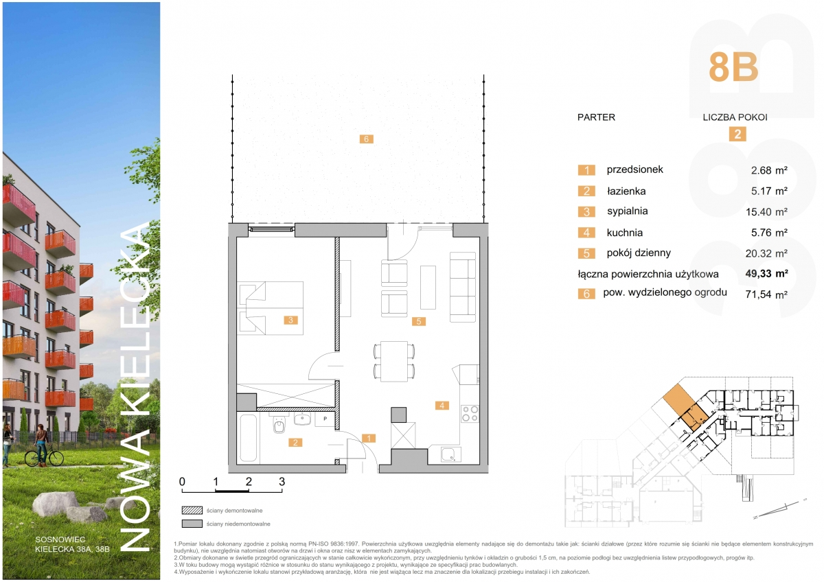 Mieszkanie 8B - 49,33 m2