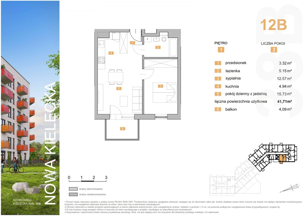 Mieszkanie 12B - 41,71 m2