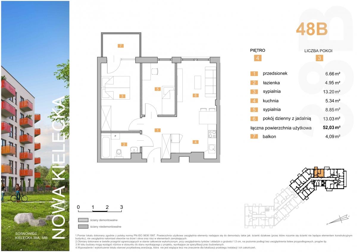 Mieszkanie 48B - 52,03 m2