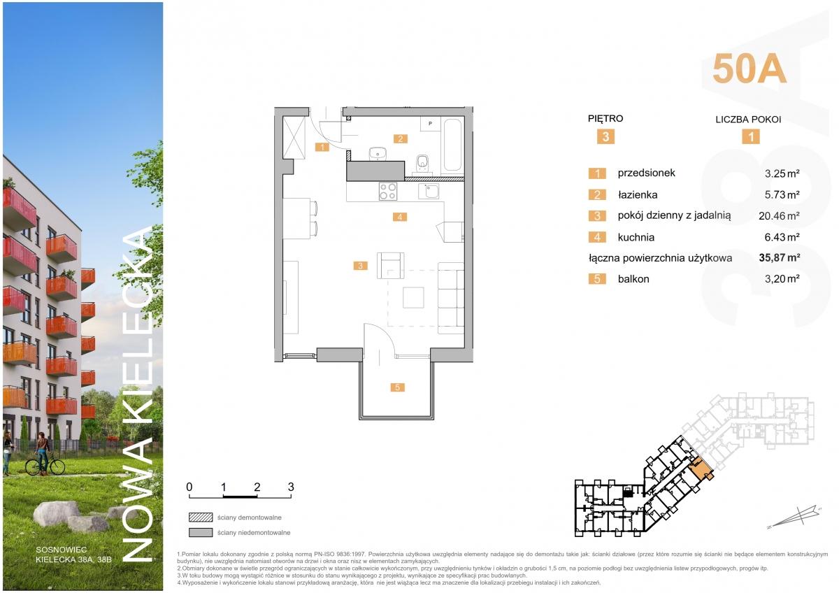 Mieszkanie 50A - 35,87 m2