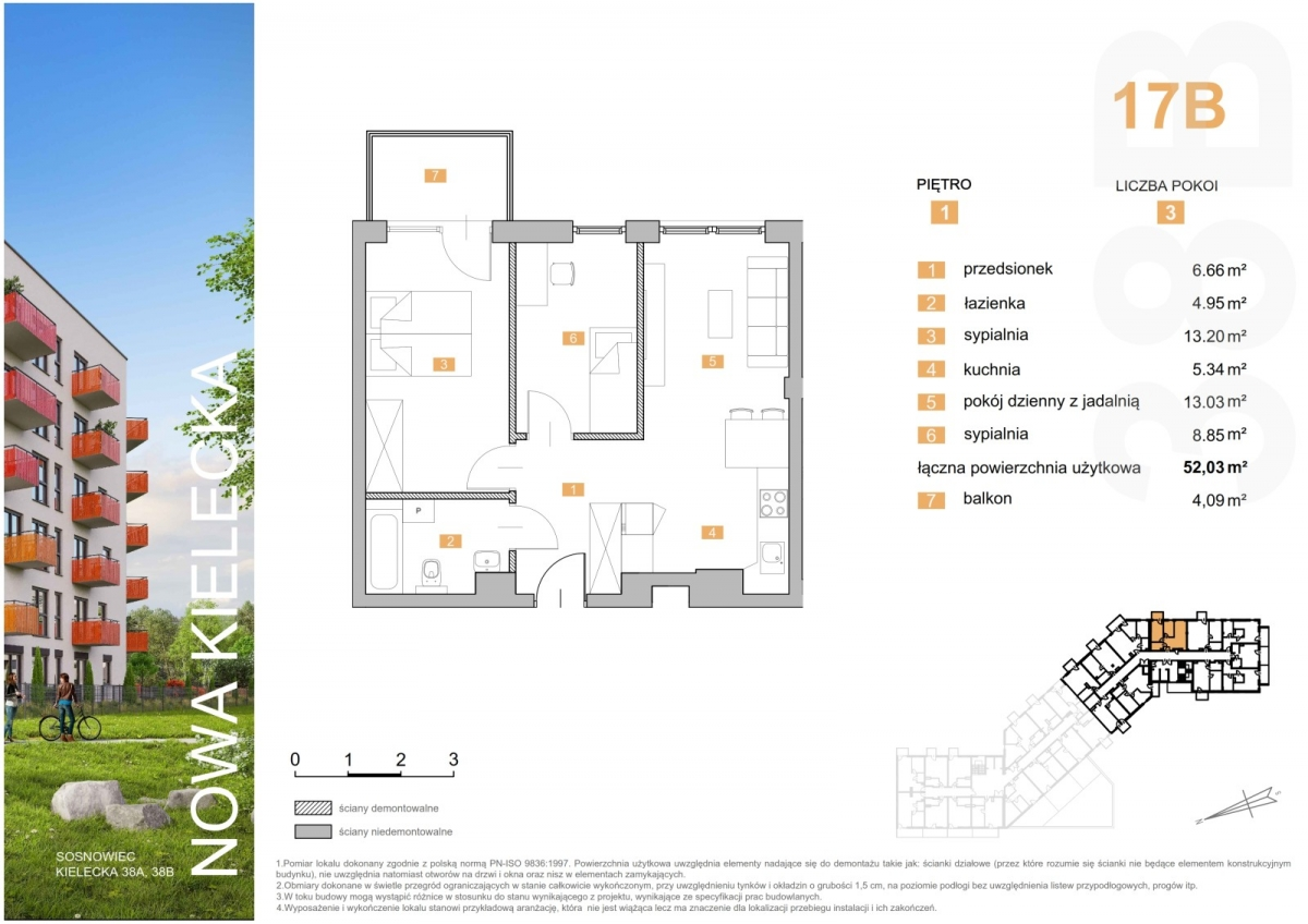 Mieszkanie 17B - 52,03 m2