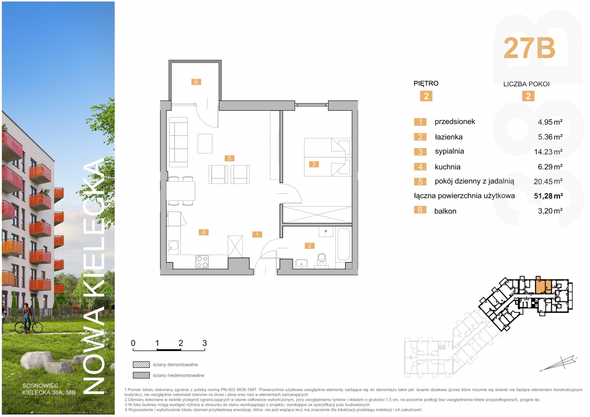 Mieszkanie 27B - 51,28 m2