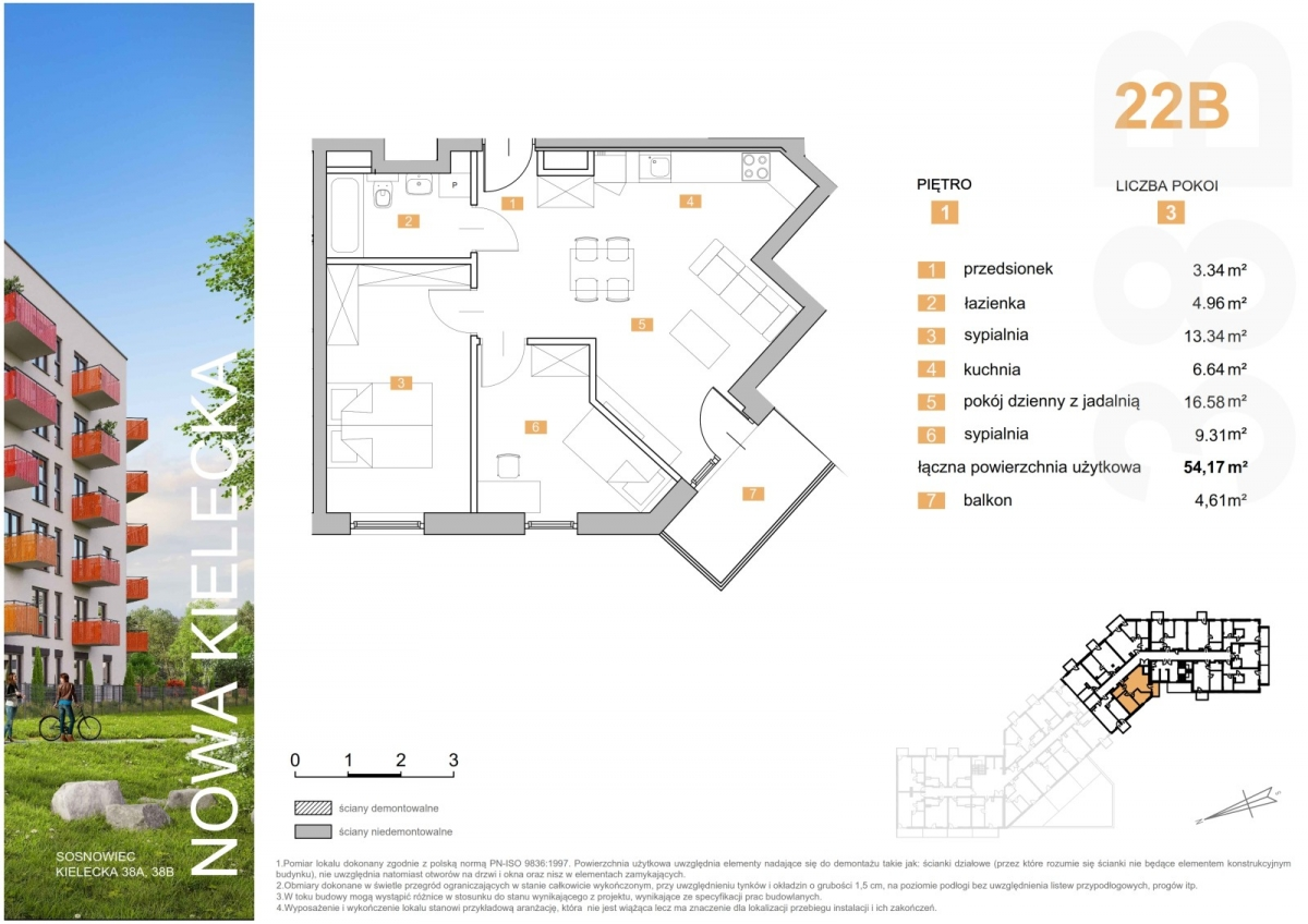 Mieszkanie 22B - 54,17 m2