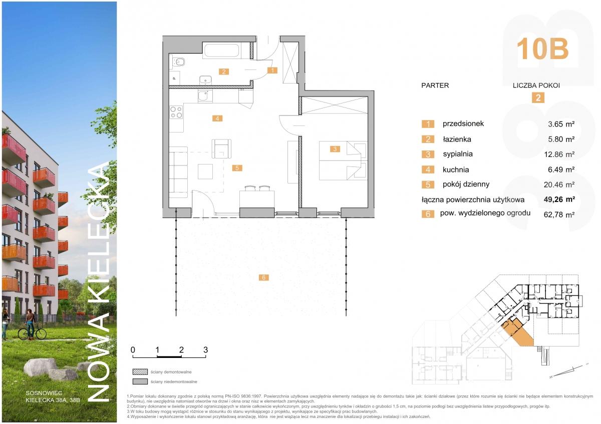 Mieszkanie 10B - 49,26 m2