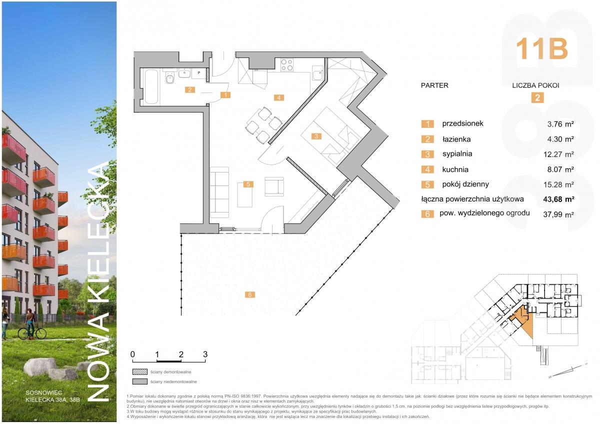 Mieszkanie 11B - 43,68 m2