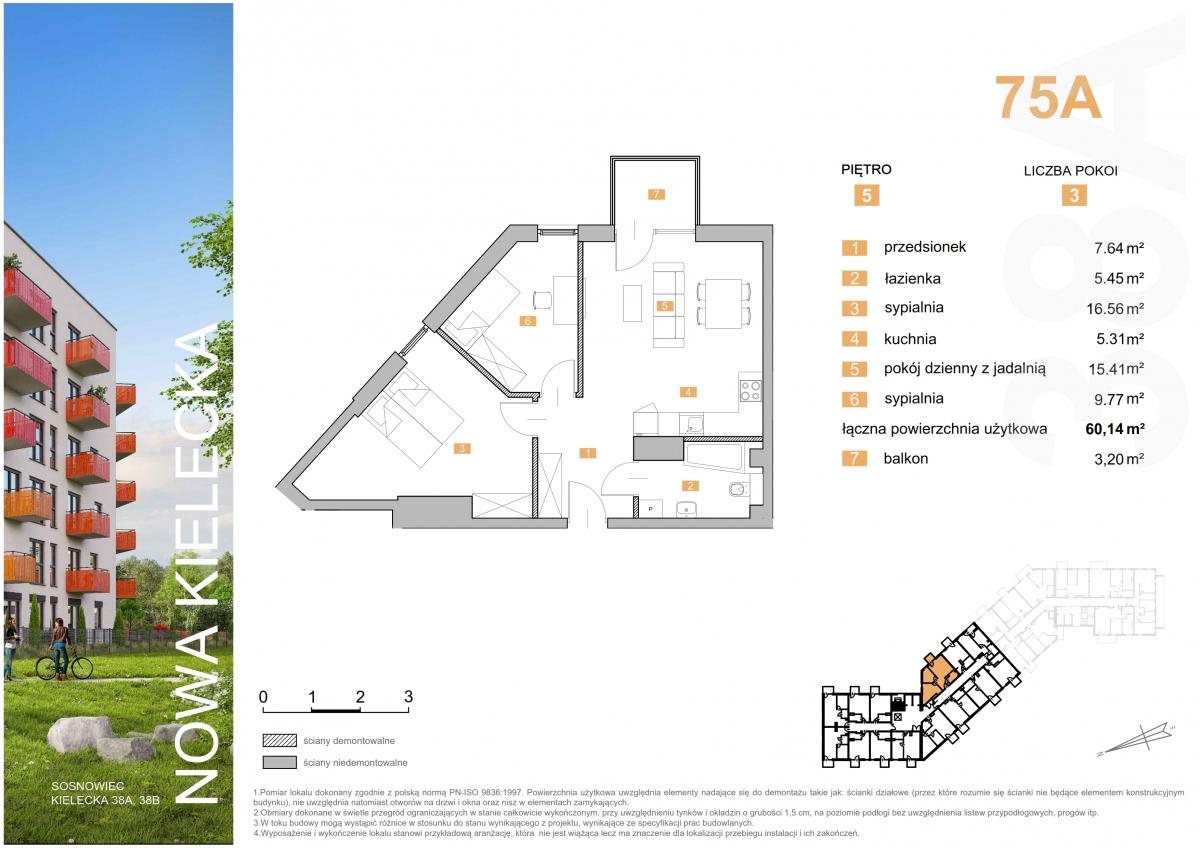 Mieszkanie 75A - 60,14 m2