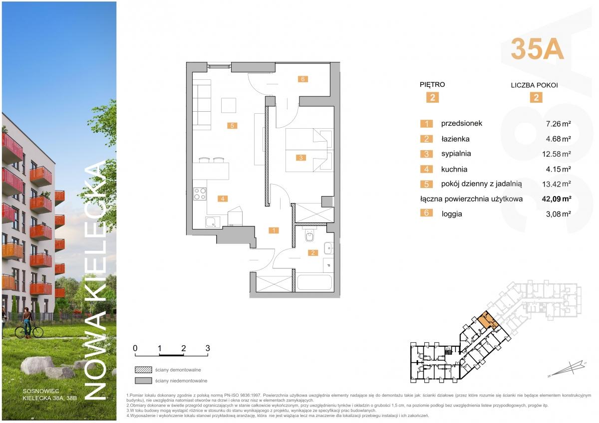 Mieszkanie 35A - 42,09 m2