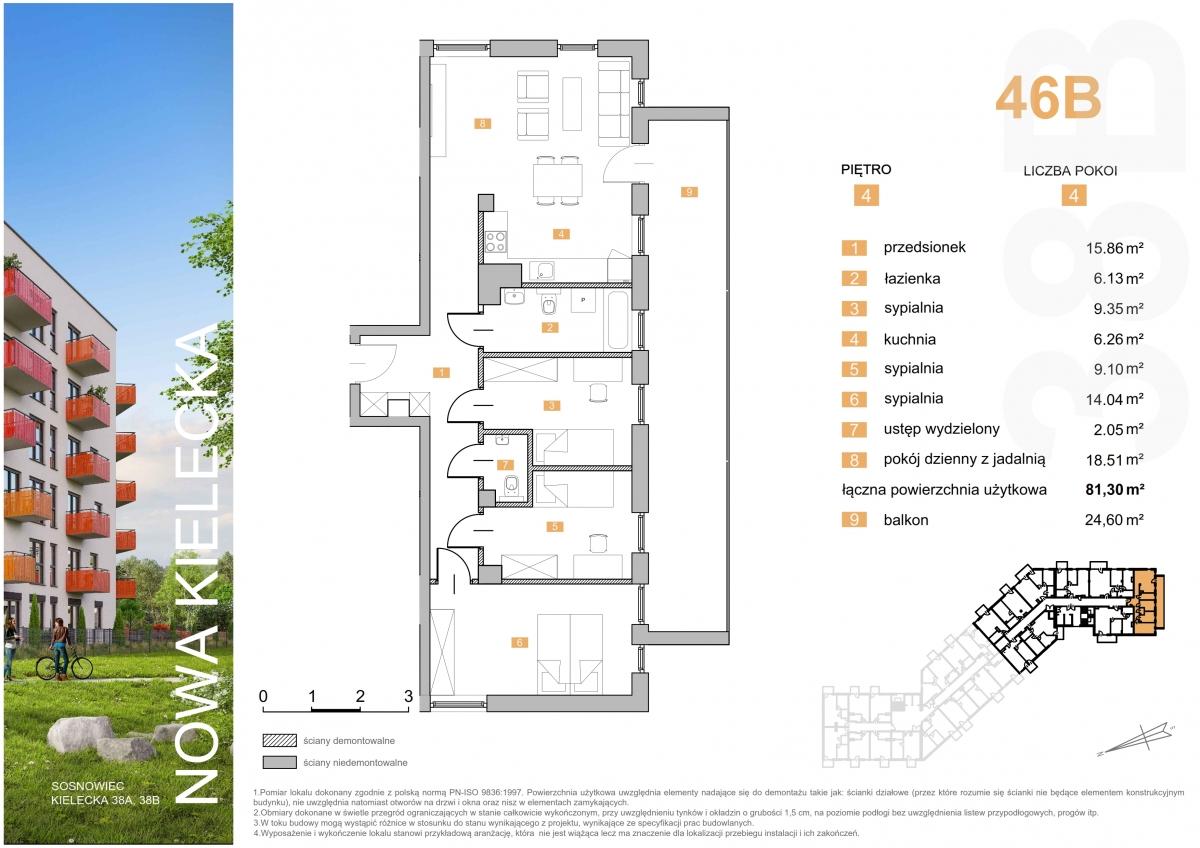 Mieszkanie 46B - 81,30 m2