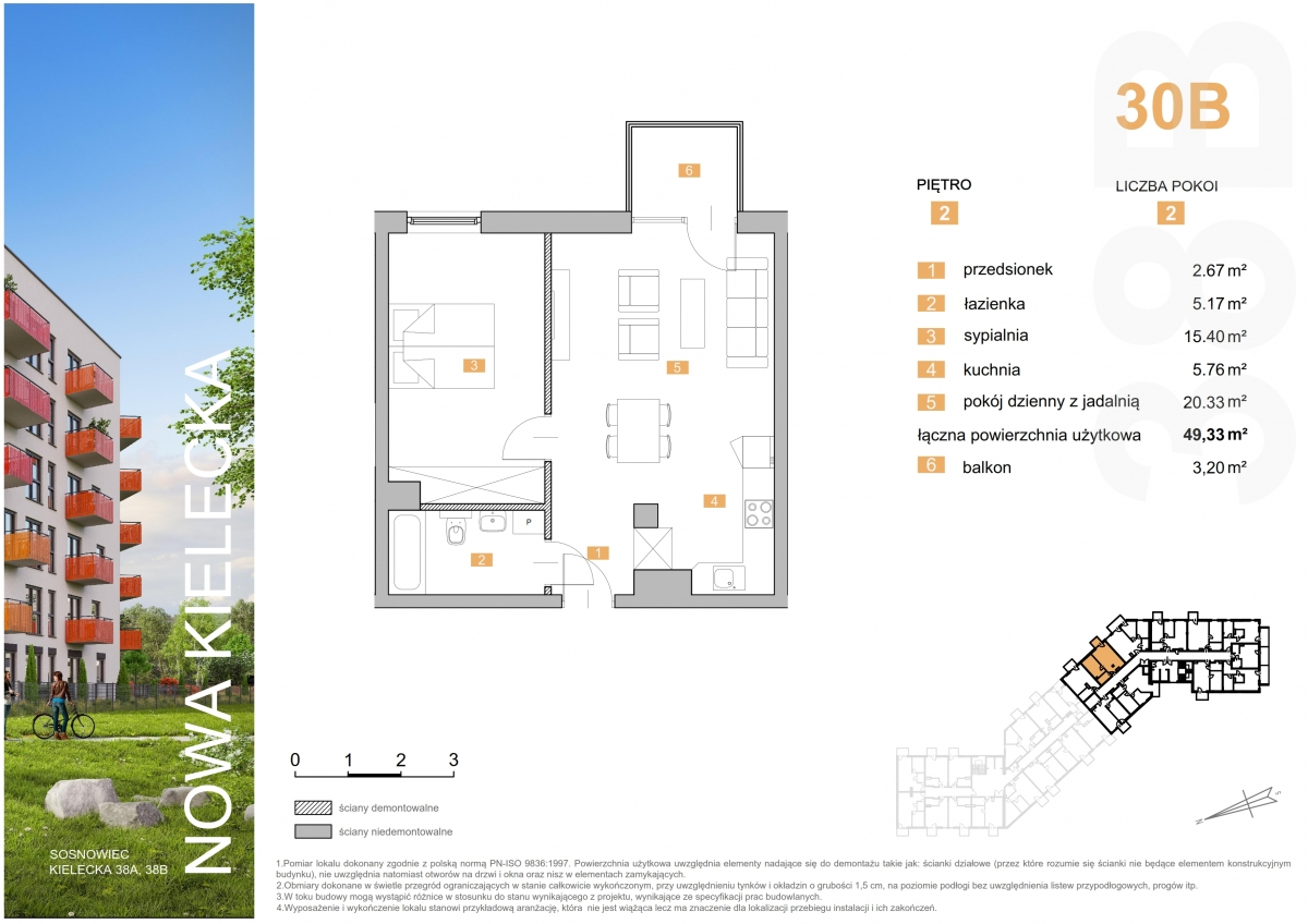 Mieszkanie 30B - 49,33 m2