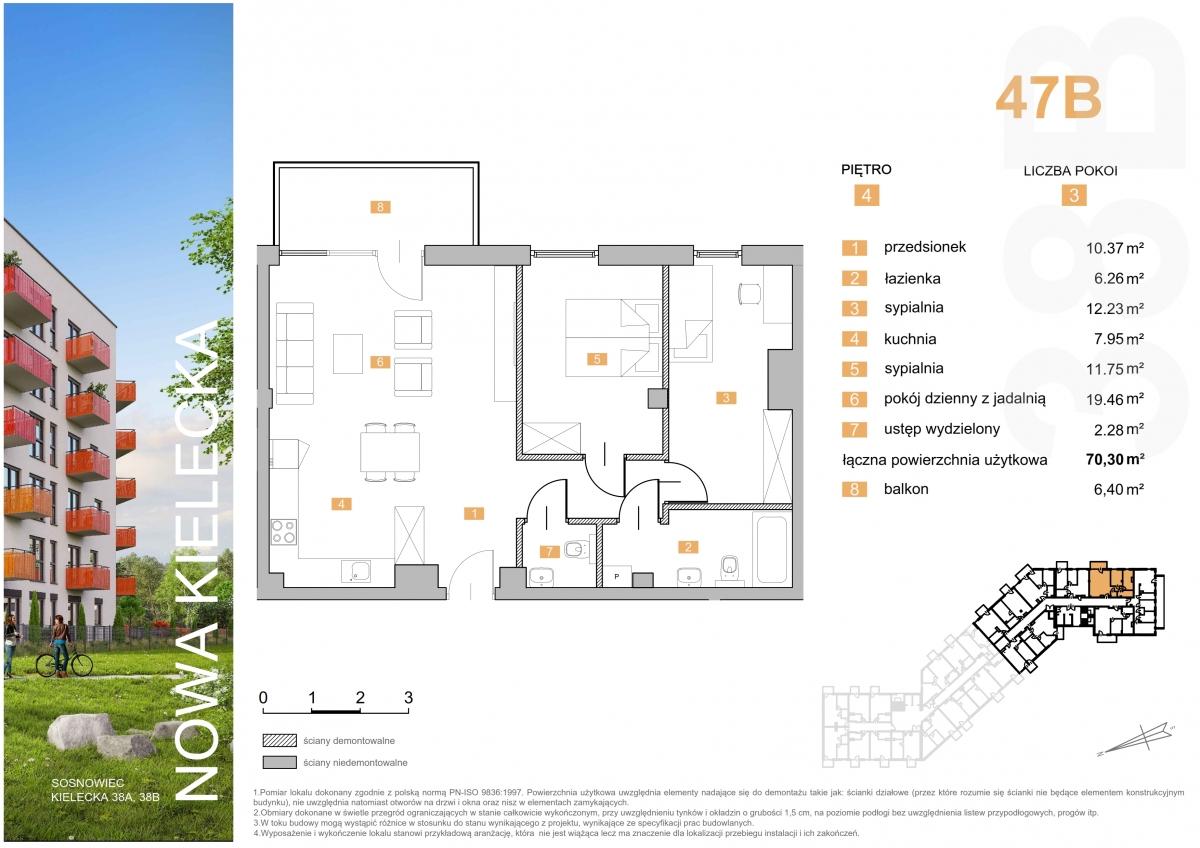 Mieszkanie 47B - 70,30 m2