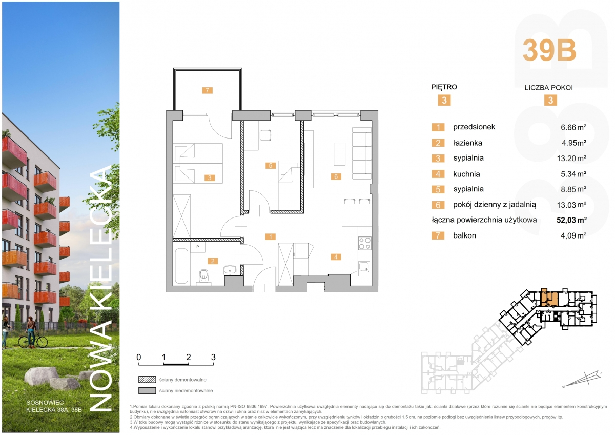 Mieszkanie 39B - 52,03 m2