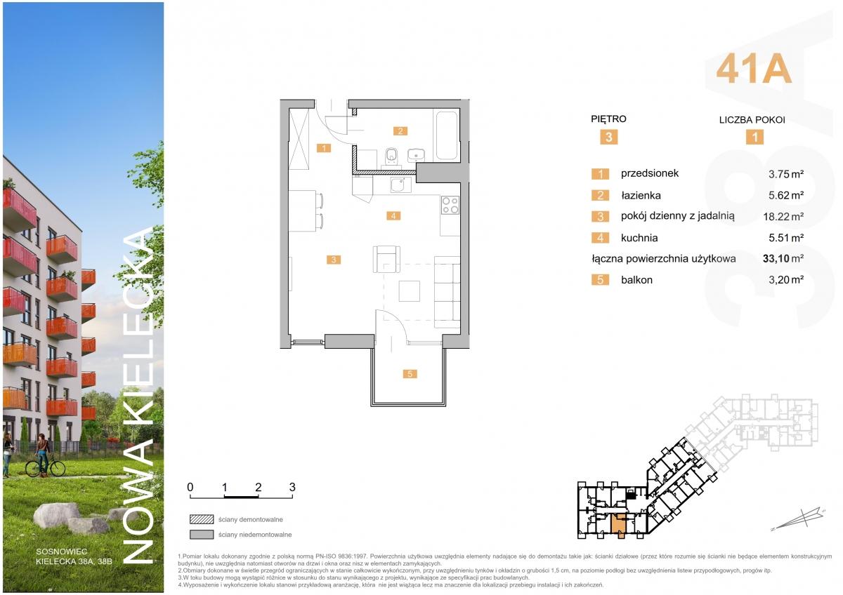 Mieszkanie 41A - 33,10 m2