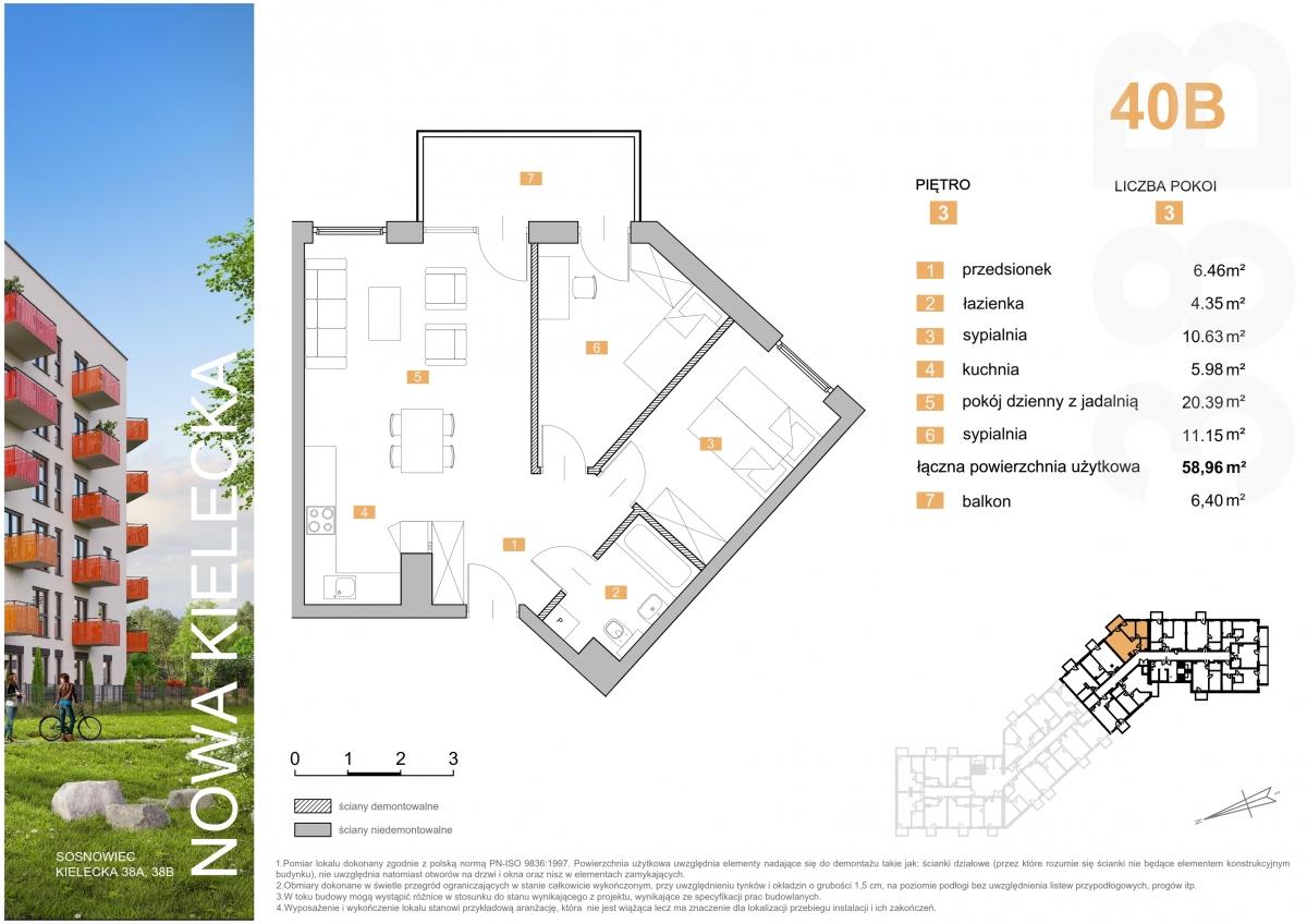 Mieszkanie 40B - 58,96 m2