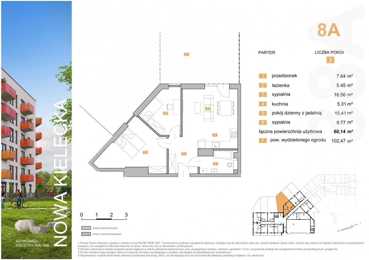 Mieszkanie 8A - 60,14 m2