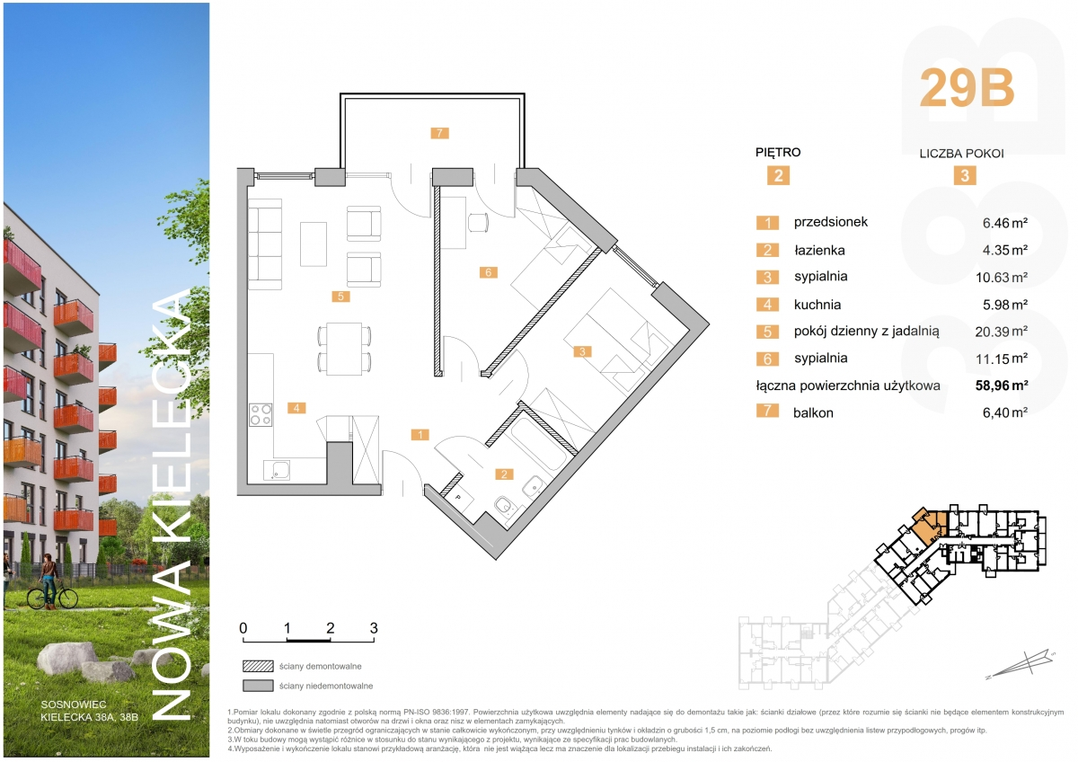 Mieszkanie 29B - 58,96 m2