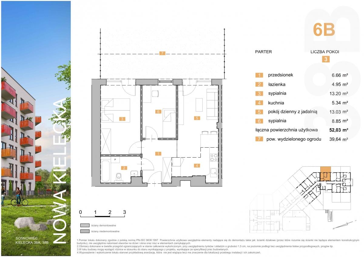 Mieszkanie 6B - 52,03 m2
