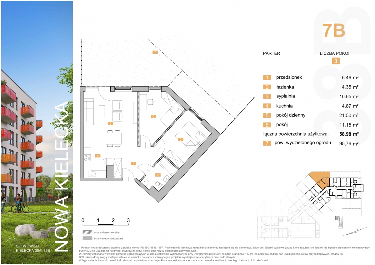 Mieszkanie 7B - 58,98 m2