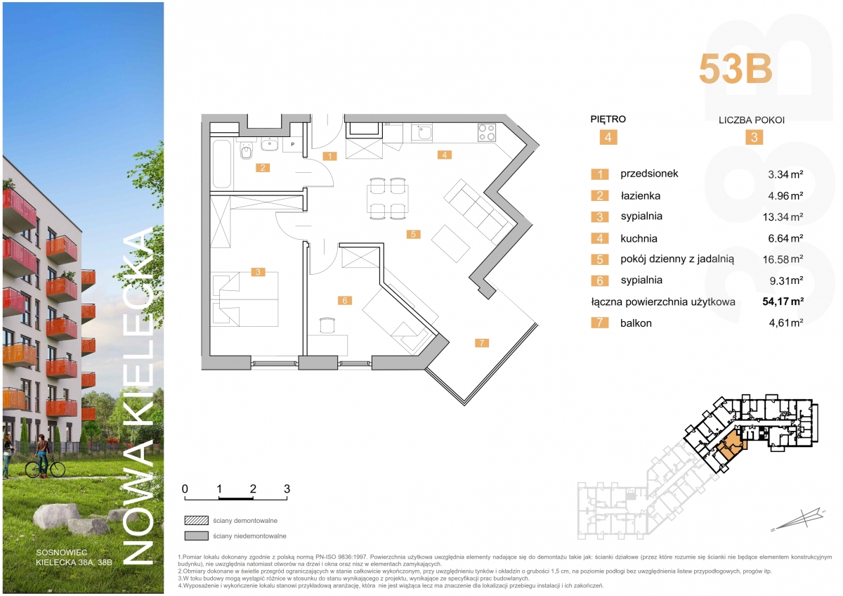 Mieszkanie 53B - 54,17 m2