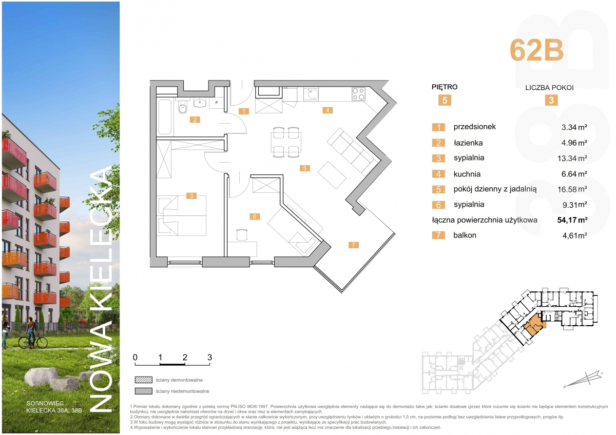 Mieszkanie 62B - 54,17 m2