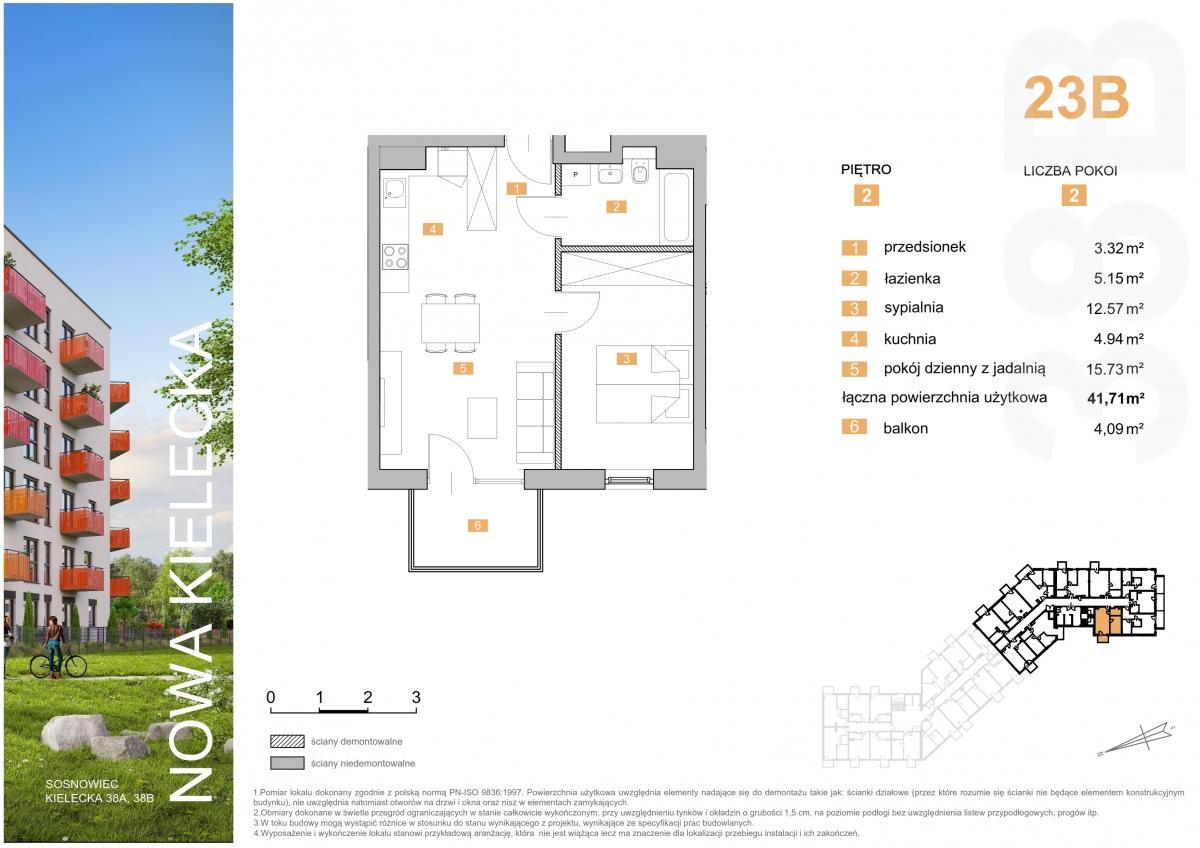 Mieszkanie 23B - 41,71 m2
