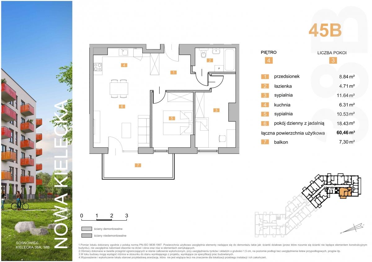 Mieszkanie 45B - 60,46 m2